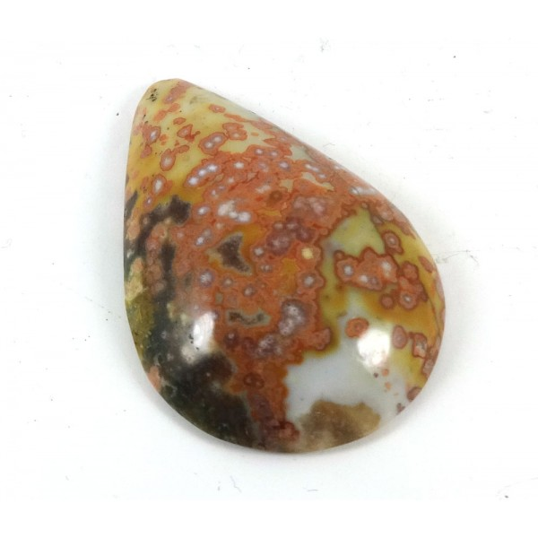 Orbicular Jasper Drop Shape Cabochon  - for Jewellery making