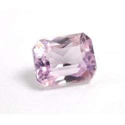 Faceted Pink Kunzite Rectangle Gemstone