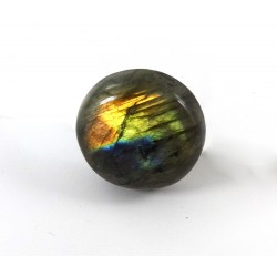 Golden Orange and Blue Labradorite Cabochon