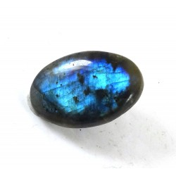 Blue and Green Labradorite Oval Cabochon