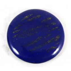 Polished Lapis Lazuli Disc Cabochon