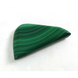 Malachite Polished Half Oval Shape