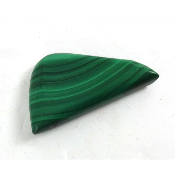 Malachite Polished Half Oval Shape