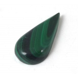 Malachite Drop Shape Cabochon
