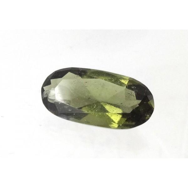 Moldavite Faceted Gemstone