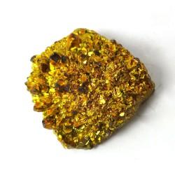 Gold Coloured Druzy Quartz Freeform