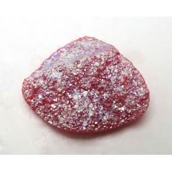 Pink Tintanium Coloured Druzy Quartz Freeform