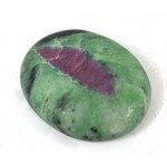 Ruby in Zoisite Oval Cabochon