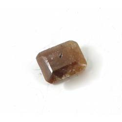Faceted Brown Sapphire Rectangle Gemstone