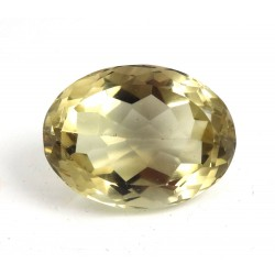 Stunning Oval Cut Faceted Golden Smokey Quartz - for Jewellery making