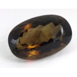Large Stunning Oval Cut Faceted Smokey   - for Jewellery making
