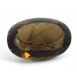 Large Stunning Oval Cut Faceted Smokey Quartz - for Jewellery making