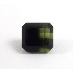 Bi Colour Rectangle Tourmaline Gemstone