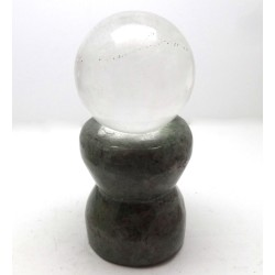 Green Mineral Crystal Ball Stand