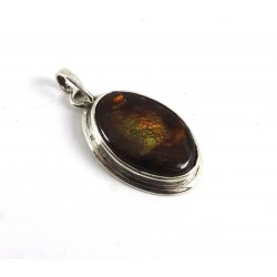 Fire Agate Necklace Pendant