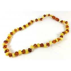 Short Amber Bead Necklace, Bracelet or Anklet