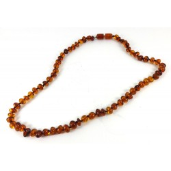 Short Cognac Amber Bead Necklace, Bracelet or Anklet