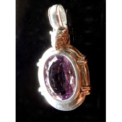 Gorgeous Amethyst Gemstone Doggy Pendant