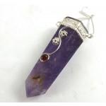 Amethyst and Garnet Gemstone Pendant