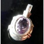 Gorgeous Amethyst Gemstone Doggy Pendant