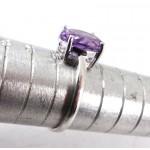Amethyst Gemstone Silver Ring Size P