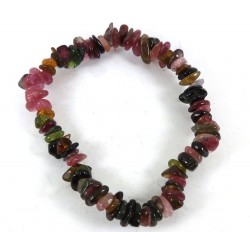 Watermelon Tourmaline Polished Stone Bracelet