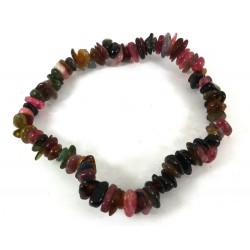 Multi Colour Tourmaline Polished Stone Bracelet
