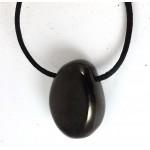 Anthracite or Culm Tumblestone Pendant