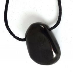 Culm or Anthracite Tumblestone Pendant