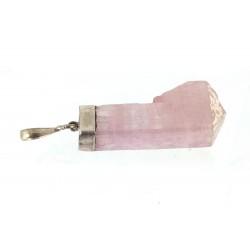 Pink Kunzite Natural Crystal Pendant