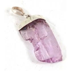 Pink Kunzite Crystal Gemmy Pendant