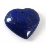 Lapis Lazuli Polished Heart Drilled at the Top