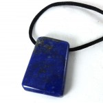 Lapis Lazuli Polished Necklace with Thread
