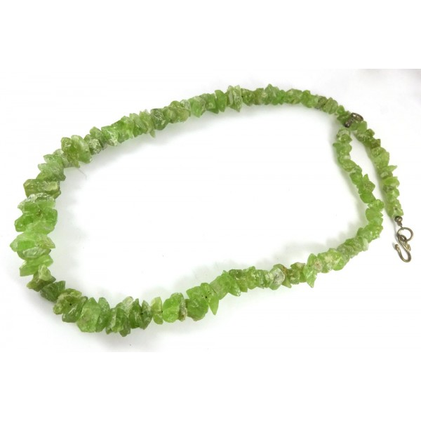 Natural Peridot Freeform Pieces Necklace