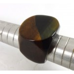Large Solid Tiger Eye Crystal Ring Size Y
