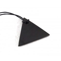 Shungite Polished Triangle Pendant