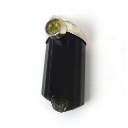 Brazilian Tourmaline and Citrine Terminated Pendant