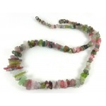 Natural Multi Colour Tourmaline Freeform Pieces Necklace