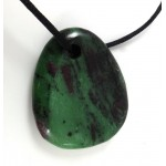 Ruby in Zoisite Polished Necklace
