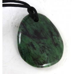 Ruby in Zoisite Polished Pendant