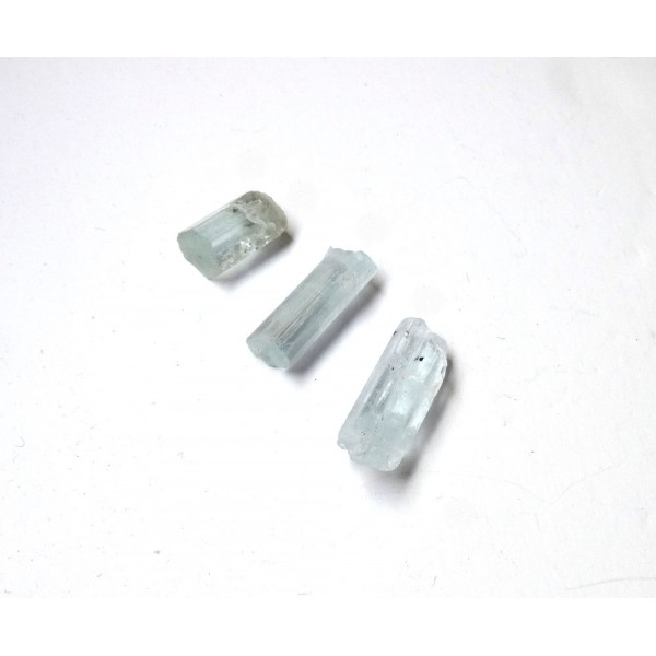 Great Colour Aquamarine Crystals x 3
