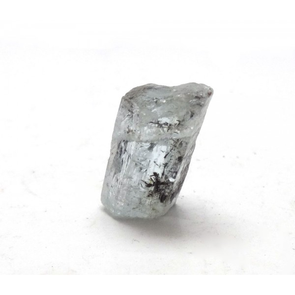 Aquamarine Crystal Section with Black Dendrites