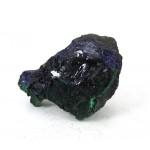 Azurite Crystals on Malachite