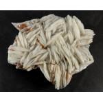 Vanadinite Crystals on Barite Mineral