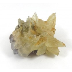 Calcite Crystal Cluster ontop of Fluorite