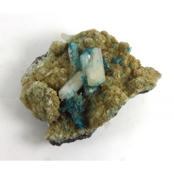 Cavansite Coated Stilbite Crystal Matrix
