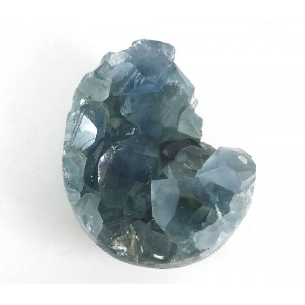 Carved Blue Celestite Open Egg
