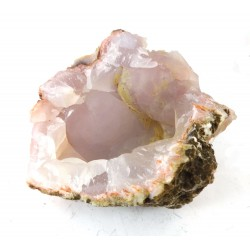 Peachy Pink Grey Chalcedony Formation