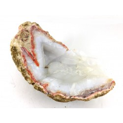 White Chalcedony Part Geode