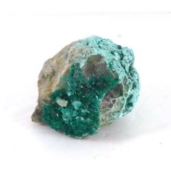 Dioptase Crystal Shattuckite Matrix